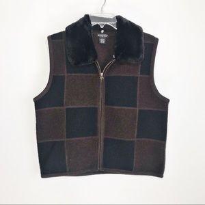 TALLY HO Wool Vest, Large